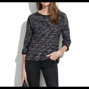 Madewell Marled Black and Gray Top